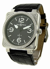 Bell & Ross BR01 BR-01-92-BLK Diamond Auto Mens Watch