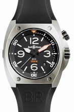 Bell & Ross BR02 BR 02-92 Black Band Watch