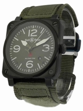 Bell & Ross BR03 BR-03-92-GRN-CAR Mens Watch