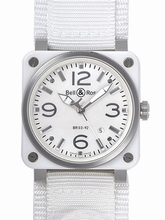 Bell & Ross BR03 BR03-92 WHITE CERAMIC Mens Watch
