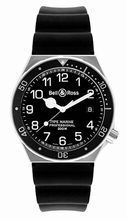 Bell & Ross Professional TYPE MARINE Black Band Watch
