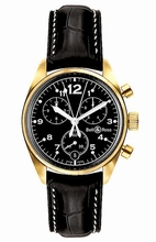 Bell & Ross Vintage 120 Gold Black Mens Watch