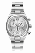 Bell & Ross Vintage Medium Chrono Grey Mens Watch