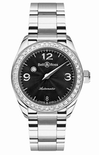 Bell & Ross Vintage Mystery Diamond Black 1 Row Unisex Watch