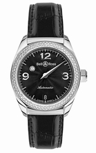 Bell & Ross Vintage Mystery Diamond Black 2 Rows Unisex Watch