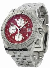 Breitling Chronomat A13356 Red Dial Watch