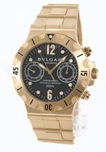 Bvlgari Diagono SC38GG Mens Watch