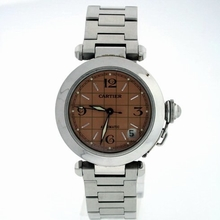 Cartier Pasha W31074M7 Brown Dial Watch