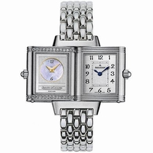 Jaeger LeCoultre Reverso - Ladies Duetto Beige Band Watch