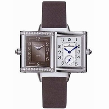 Jaeger LeCoultre Reverso - Ladies Duetto Grey Dial Watch