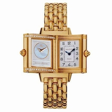 Jaeger LeCoultre Reverso - Ladies Duetto Yellow Band Watch