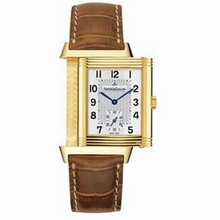 Jaeger LeCoultre Reverso - Men's Duetto Black Band Watch