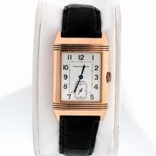 Jaeger LeCoultre Reverso - Men's Duetto Black Dial Watch