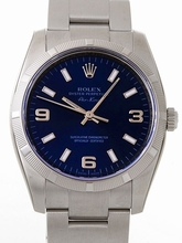Rolex Airking 114210BLASO Mens Watch