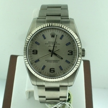 Rolex Airking 114234 Beige Band Watch