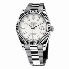 Rolex Datejust II 116334 White Dial Watch