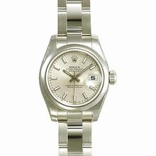 Rolex Datejust Ladies 179160 Beige Band Watch