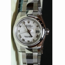 Rolex Datejust Ladies 179160 White Dial Watch