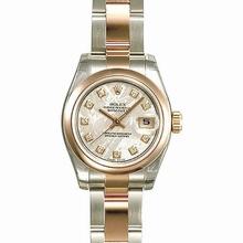 Rolex Datejust Ladies 179161 Beige Band Watch