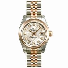 Rolex Datejust Ladies 179161 Diamond Dial Watch