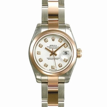 Rolex Datejust Ladies 179161 Stainless Steel Band Watch