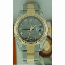 Rolex Datejust Ladies 179163 Grey Dial Watch