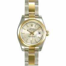 Rolex Datejust Ladies 179163 Silver Dial Watch
