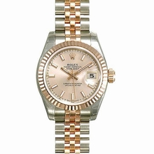 Rolex Datejust Ladies 179171 Beige Band Watch