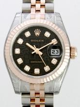 Rolex Datejust Ladies 179171 Black Dial Watch
