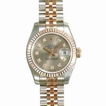 Rolex Datejust Ladies 179171 Diamond Dial Watch