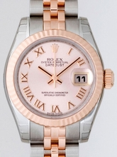 Rolex Datejust Ladies 179171 Pink Dial Watch