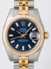 Rolex Datejust Ladies 179173 Black Dial Watch
