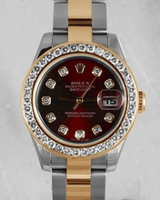 Rolex Datejust Ladies 179173 Red Dial Watch