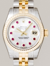 Rolex Datejust Ladies 179173 Silver Band Watch