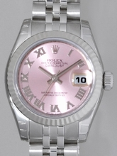Rolex Datejust Ladies 179174 Pink Dial Watch