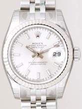Rolex Datejust Ladies 179174 Silver Band Watch