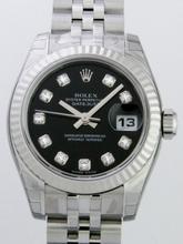 Rolex Datejust Ladies 179174 Stainless Steel Bezel Watch