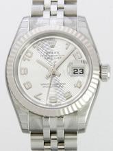 Rolex Datejust Ladies 179174 White Gold Case Watch
