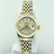 Rolex Datejust Ladies 67173 Yellow Band Watch