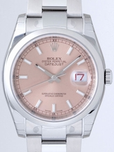 Rolex Datejust Men's 116200 Pink Dial Watch