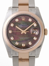 Rolex Datejust Men's 116201 Black Dial Watch