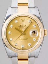 Rolex Datejust Men's 116203 Gold Dial Watch