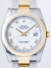 Rolex Datejust Men's 116203 White Dial Watch