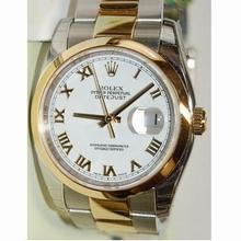 Rolex Datejust Men's 116203 Yellow Gold Bezel Watch