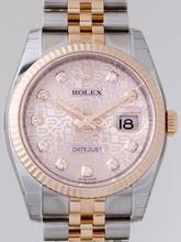 Rolex Datejust Men's 116231 Rose Gold Bezel Watch