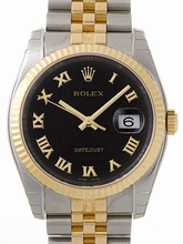 Rolex Datejust Men's 116233 Black Dial Watch