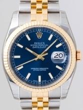 Rolex Datejust Men's 116233 Blue Dial Watch
