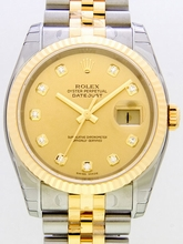Rolex Datejust Men's 116233 Diamond Dial Watch