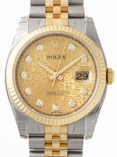 Rolex Datejust Men's 116233 Gold Dial Watch