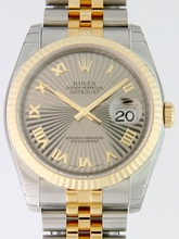 Rolex Datejust Men's 116233 Silver/Gold Band Watch
